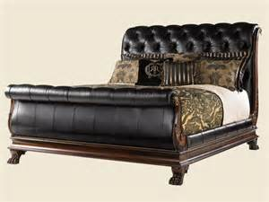 Leather Sleigh Bed Home Brands Coventry Leather Sleigh Bed Jpg