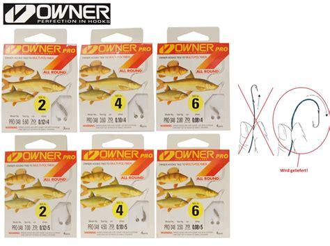 Paket Fishing Master by 6 Pakete Owner Allroundhaken Mit Teigspirale Gebunden 70cm