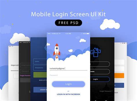mobile web login free login panel psd psd