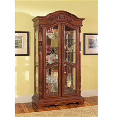 Solid Wood Curio Cabinet curio cabinets solid birch wood curio cabinet in rich cherry 950102 co elitedecore