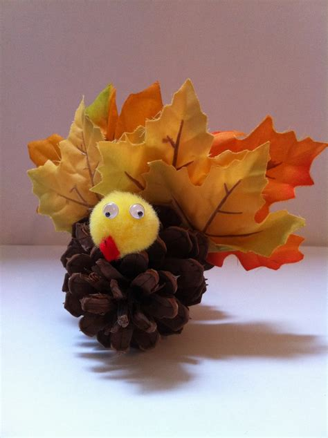 pinecone turkey craft pinecone turkey craft thanksgiving