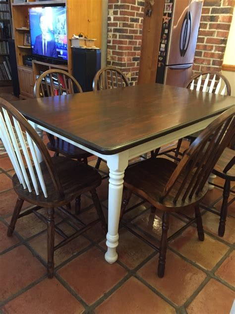 painted dining room set hometalk refinished dining set