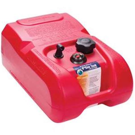 boat gas tank full of water west marine 6 gallon low permeation above deck fuel tank