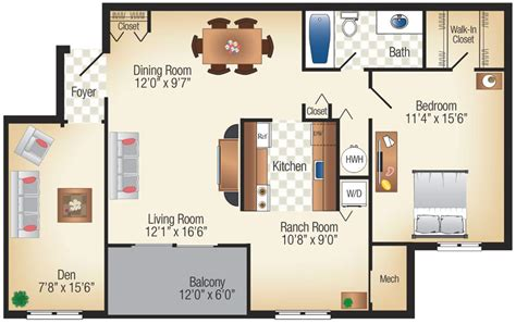 one bedroom apartments with den one bedroom apartment with den marvelous on bedroom