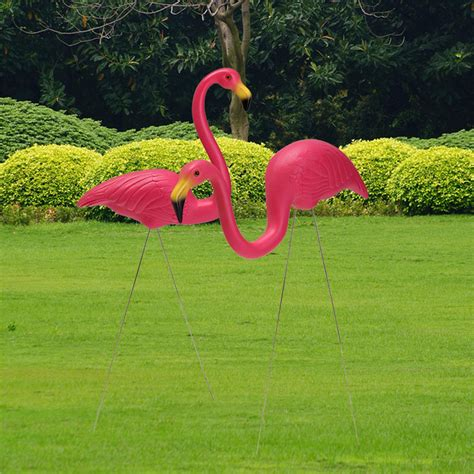pink flamingo lawn ornaments 2pcs pink flamingo plastic yard garden lawn art ornaments