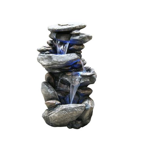 alpine rock waterfall fountain  led light win