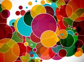Colorful circles abstract vector background free vector graphics
