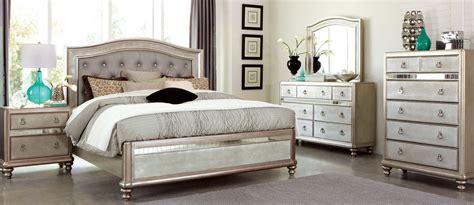 Metallic Bedroom Furniture Bling Metallic Platinum Panel Bedroom Set From Coaster 204181q Coleman Furniture