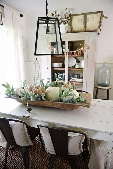 Dining Room Table Centerpiece Bowls Simple Dough Bowl Fall Centerpiece Dough Bowl Bowl Centerpieces And Centerpieces