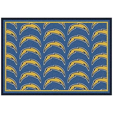 Nfl Area Rug Nfl Los Angeles Chargers Repeating Area Rug Bed Bath Beyond
