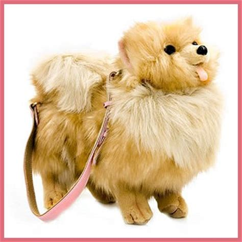 stuffed pomeranian stuffed plush pomeranian handbag from stuffed ark