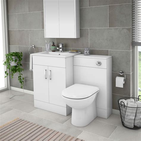 Bathroom Suite With Vanity Unit by Turin 1100mm Gloss White Vanity Unit Bathroom Suite