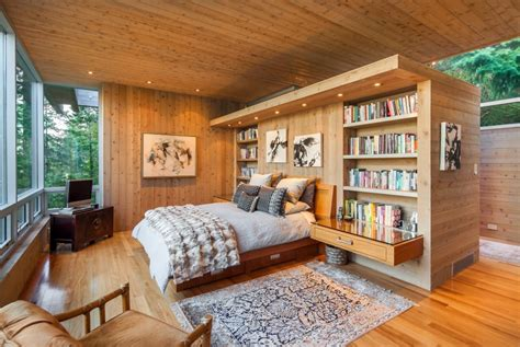 2 bedroom wooden house modern bedroom wood finish interior design ideas