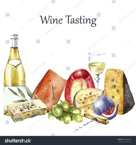 fruit e bars vine vector set watercolor food illustration grapes stock