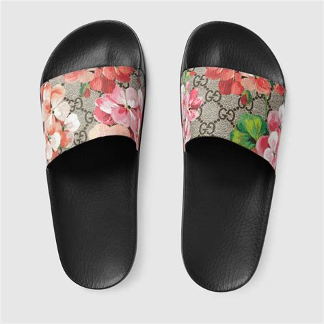 Gucci Gg Blooms Floral Flats 268 3 gg blooms supreme slide sandal gucci s slides