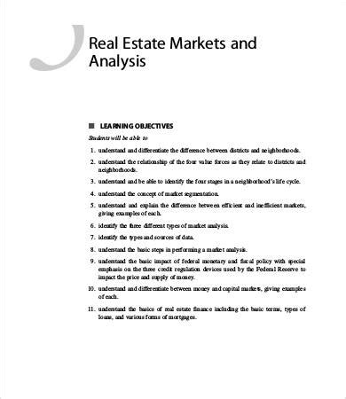Market Analysis Template 12 Free Sle Exle Format Free Premium Templates Free Real Estate Market Analysis Template