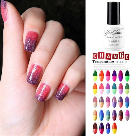nail change color yaoshun 8ml chameleon temperature change color nail