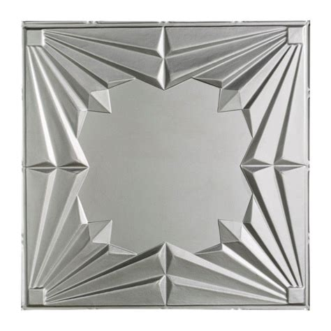 home depot ceiling tile fasade deco 2 ft x 2 ft lay in ceiling tile in argent silver l58 09 the home depot