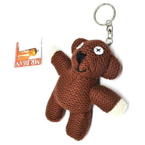 Keyhook Keychain Gantungan Kunci mr bean teddy plushy key chain boneka gantungan kunci brown jakartanotebook