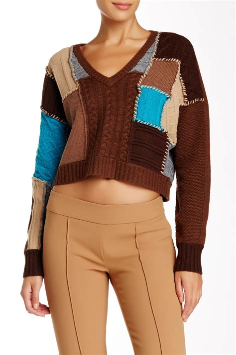 Patchwork Sweater - l a m b patchwork sweater nordstrom rack