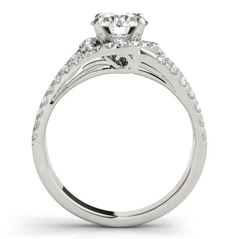 wide band engagement ring 18k white gold 2 13ct