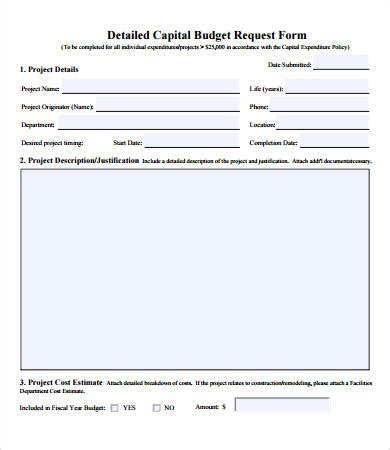 budget request form template budget forms 9 free pdf documents free