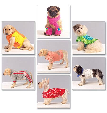 sewing pattern for dog coat with legs m5776 dog coats scarf and leg warmers accessories