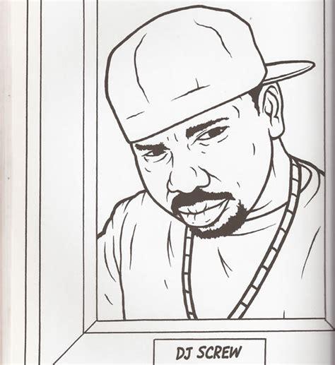 dj page gangsta rap coloring book dj