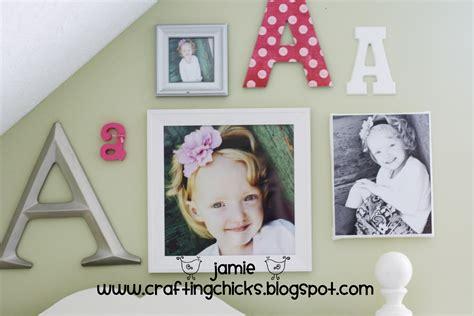 toddler room wall decor diy kid room decor monogram photo wall the crafting