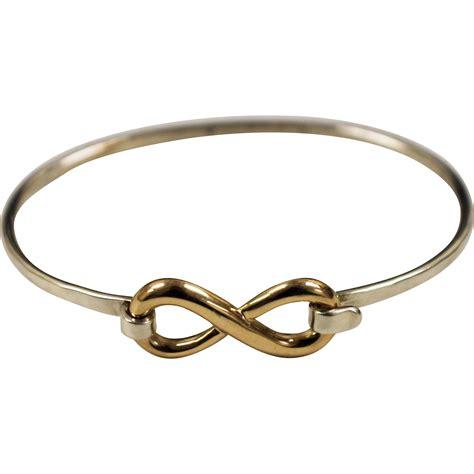infinity bracelet avery avery 925 sterling silver bangle bracelet w 14k yellow