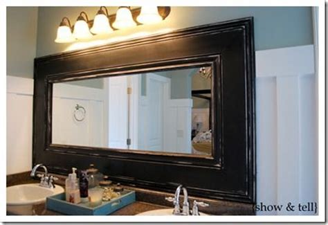 Molding Around Mirrors Decorate Pinterest Builder Bathroom Mirror Trim Ideas