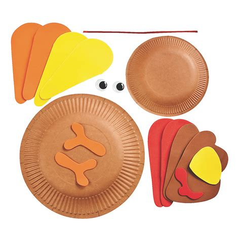 Paper Plate Turkey Crafts - paper plate turkey craft kit trading