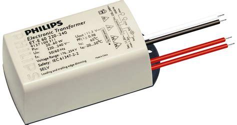 electronic transformer for 12v halogen ls et e 60 220 240v 50 60hz electronic transformers philips