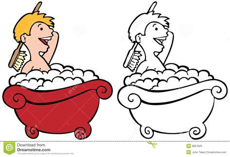 Which Uses More Water A Bath Or A Shower badinez dans la baignoire images libres de droits image