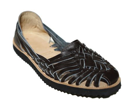 huarache sandals ix style huarache woven leather sandals in black lyst