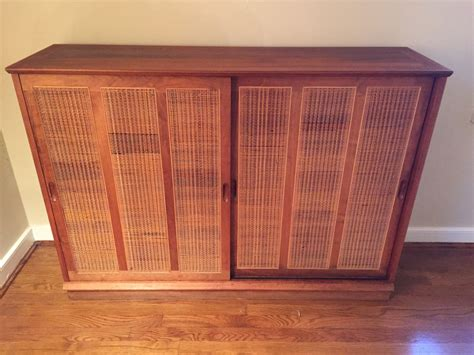 wicker panels for cabinets mid century walnut cabinet w rattan door panels at epoch