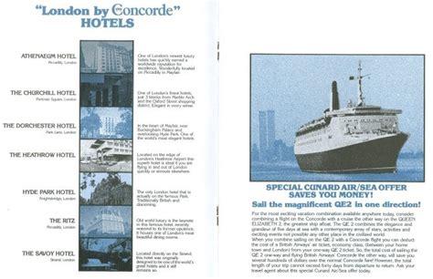 british airways concorde sales brochure history  memorabilia concorde british