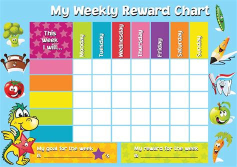 reward chart template word printable reward chart template activity shelter