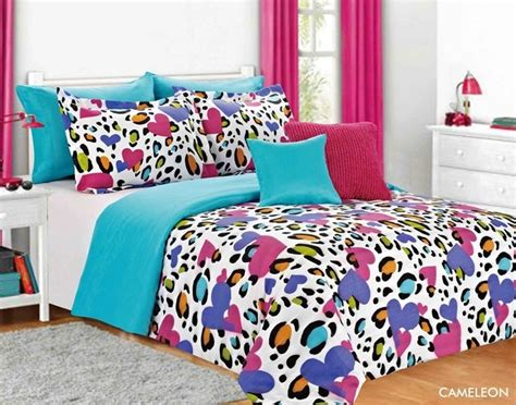 bright multi colored comforters bright color cameleon comforter set multi color heart