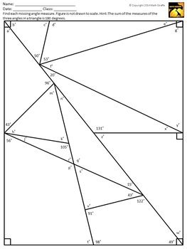 Special Angle Pairs Worksheet Answers