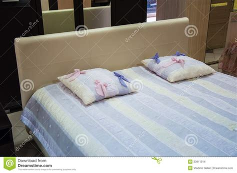 colorful bed pillows the pillow on the bed stock images image 33911314