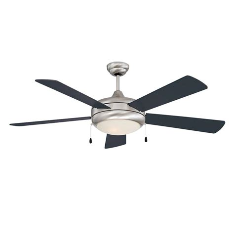 stainless steel ceiling fan with light radionic hi tech stargate 52 in stainless steel ceiling