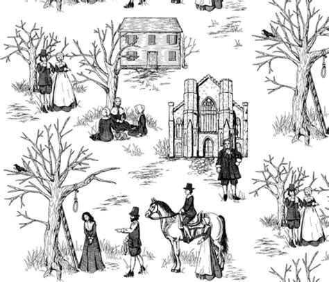 salem witch trials toile fabric jillianmorris spoonflower
