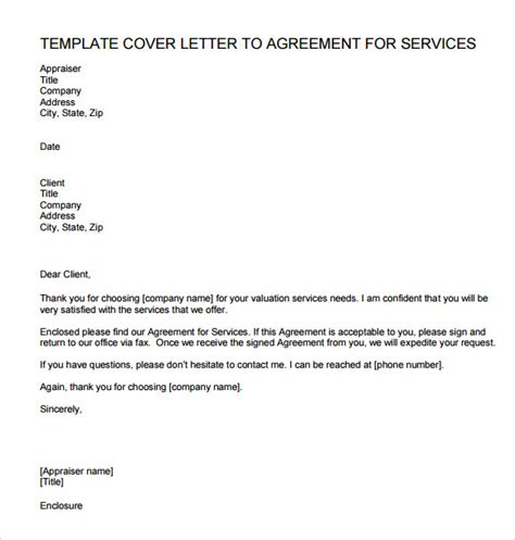 Service Letter Agreement Sle Letter Of Agreement 8 Exle Format
