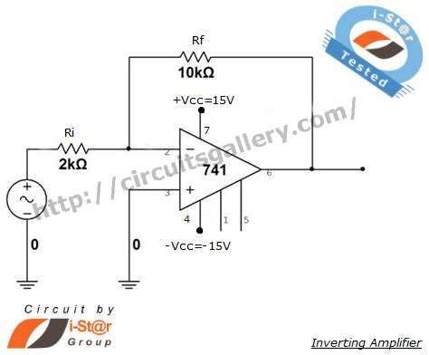 op 741 inverting lifier circuit simulation with