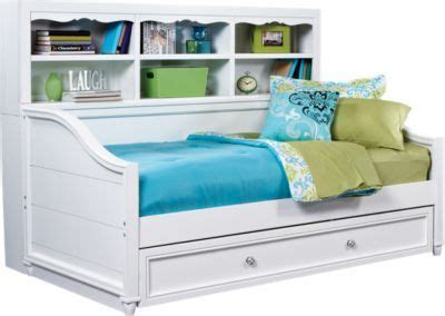 rooms to go bookcases rooms to go gabriella winter white 3pc bookcase daybed