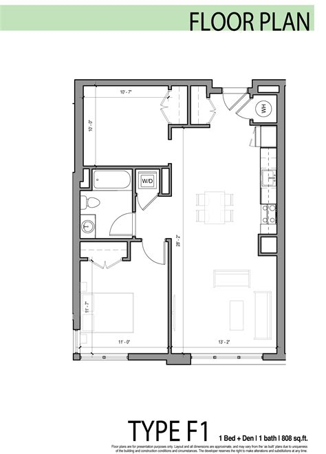 1 bedroom plus den edge allston floor plans layouts at the edge luxury building