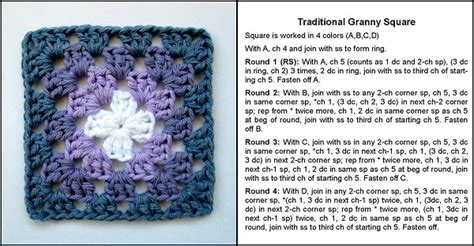 Printable Instructions On How To Crochet A Granny Square | crochet directions crochet and knit