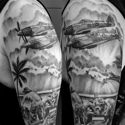 world war 2 tattoos design 70 ww2 tattoos for memorial ink design ideas