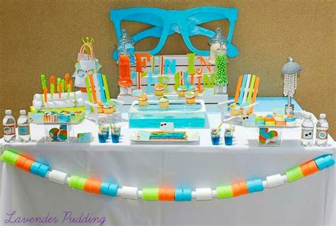 Blue Pool Table Creative Pool Party Ideas Guest Feature Celebrations